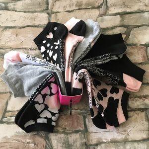 10 pairs of Betsey Johnson Low Cut Socks